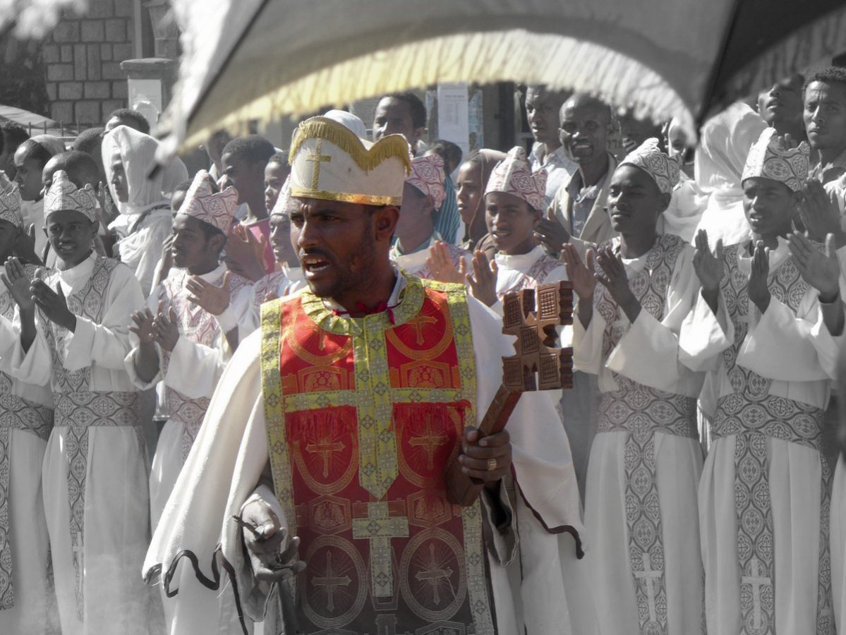 picture description: Timkat Festival, Ethiopian Orthodox Epiphany with ZenAye Ethiopia Tours, Swiss-African expert in tour operation / photo: Linetta Schneller