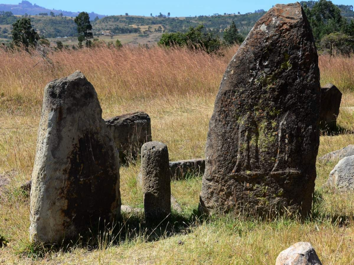 picture description: Tiya Stelae, UNESCO World Heritage Site, culture, history and archaeology with ZenAye Ethiopia Tours, Swiss-African expert in tour operation / photo: Linetta Schneller